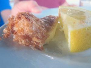 Restauarnt Rhodos Käse gebacken